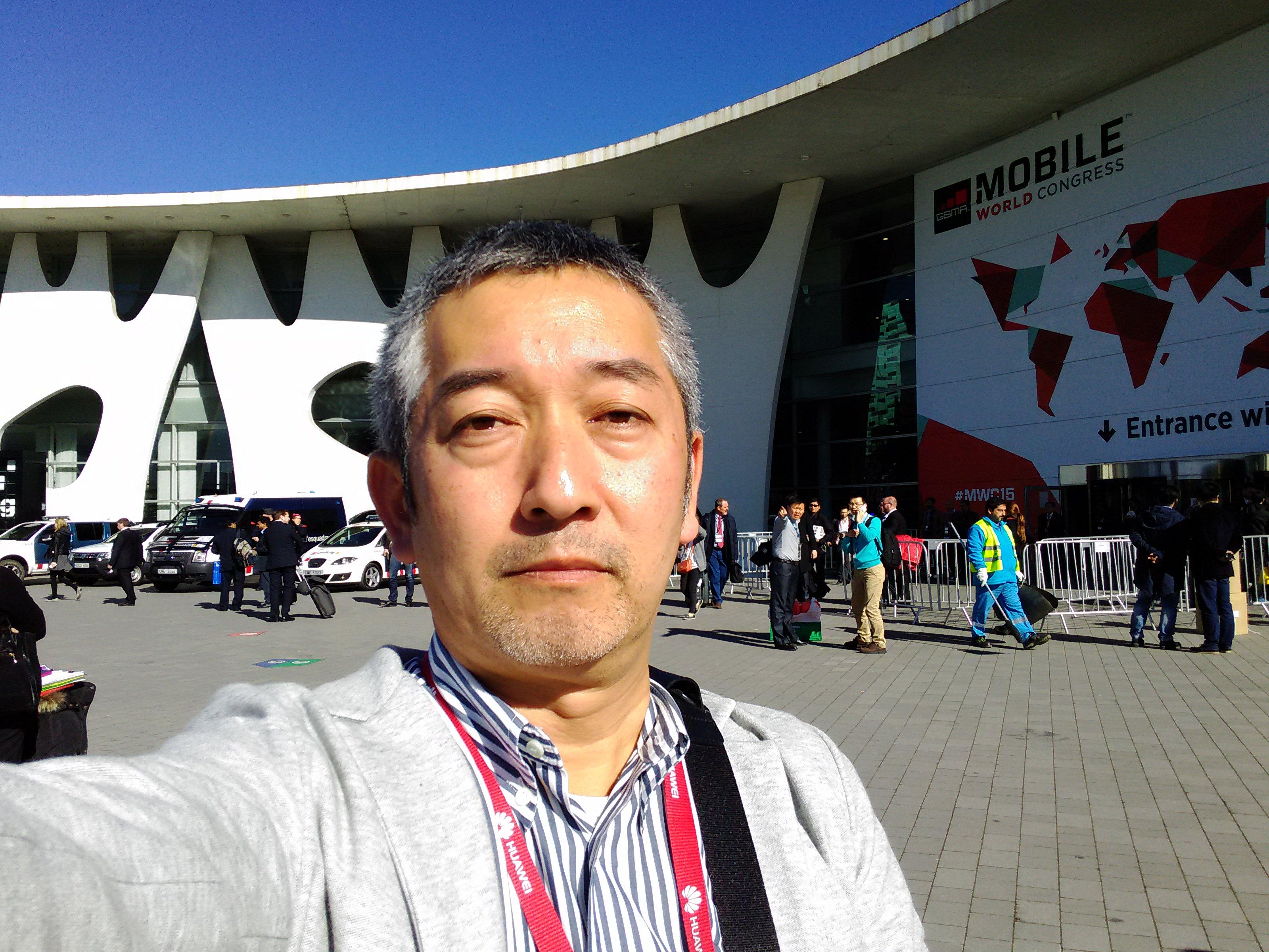 MWC2015の会場の前で撮影した写真