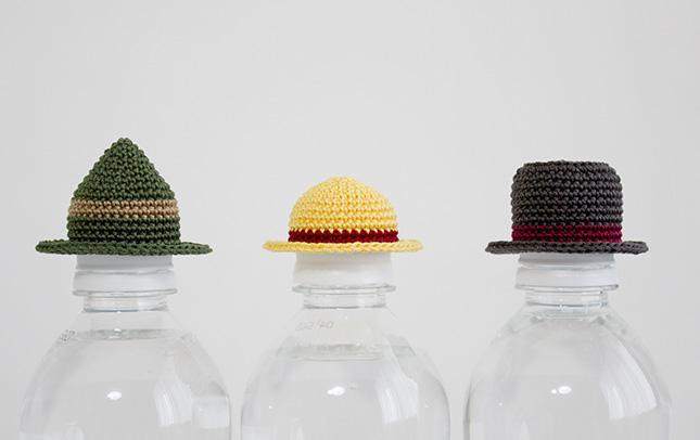 ペットボトル用帽子3点セット