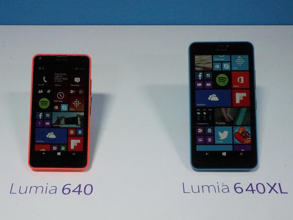 2015年3月に発表されたLumia 640とLumia 640XL