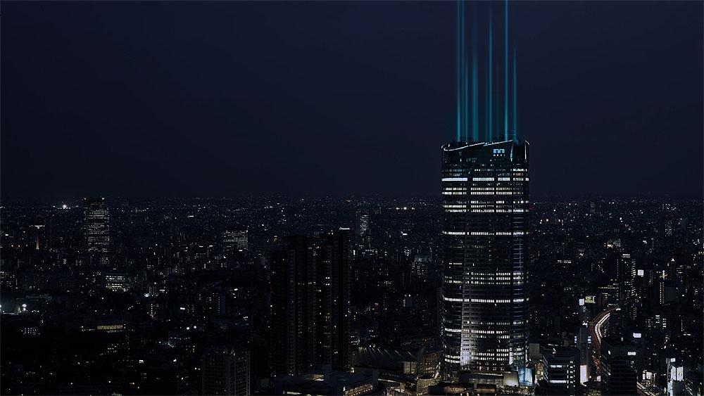 """六本木ヒルズの屋上に""""ビーコン装置""""が設置、その光が変化する"""
