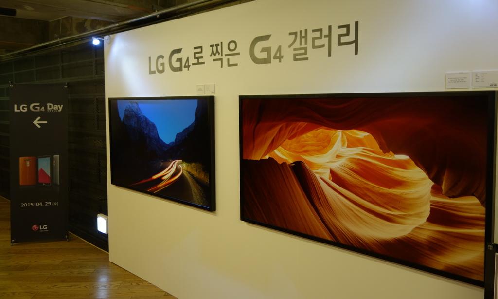会場近くのスペースでは、プロの写真家がG4を使って撮影した写真を展示。ポスターサイズで印刷してもまったく遜色のない仕上がり