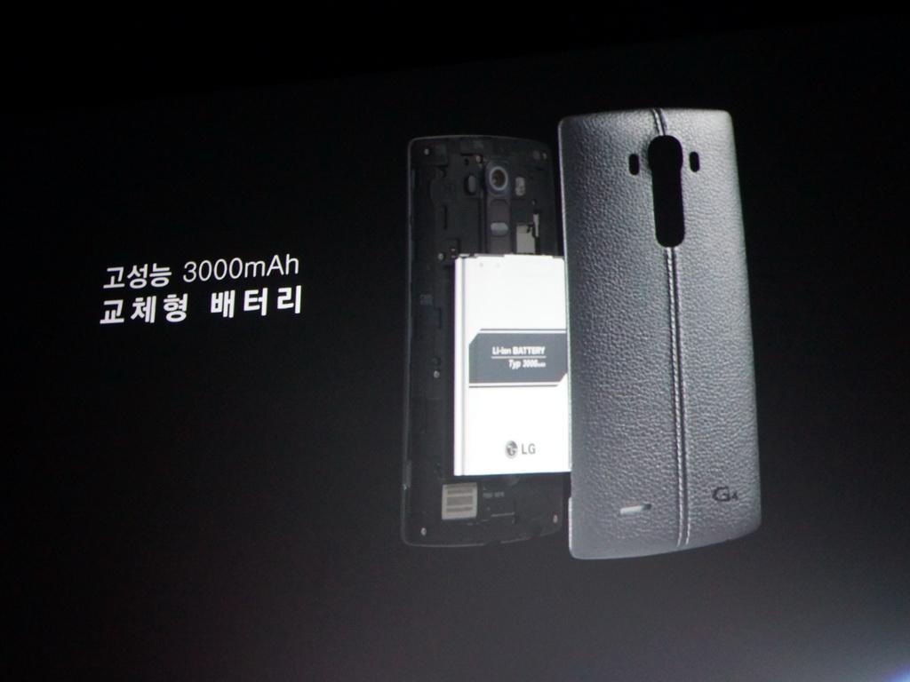 背面カバーを外すと、着脱可能な3000mAhのバッテリーが搭載されている