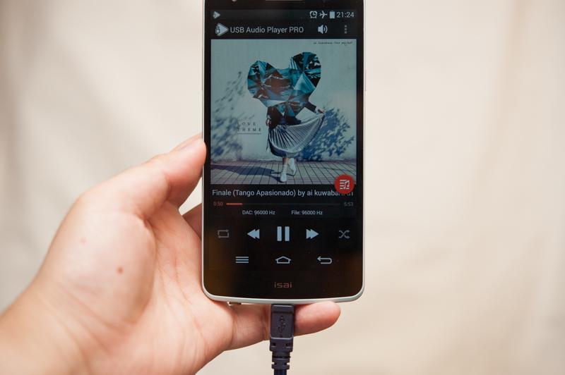 「USB Audio Player PRO」。最近になってAndroid 5.0世代のマテリアルデザインに様変わりした