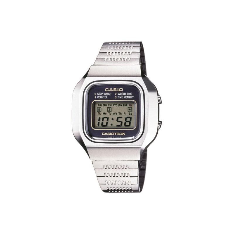 世界初の世界時計・ストップウオッチ・カウンター・デュアルタイム付き腕時計「カシオトロン X-1」:1976年(昭和51年)発売