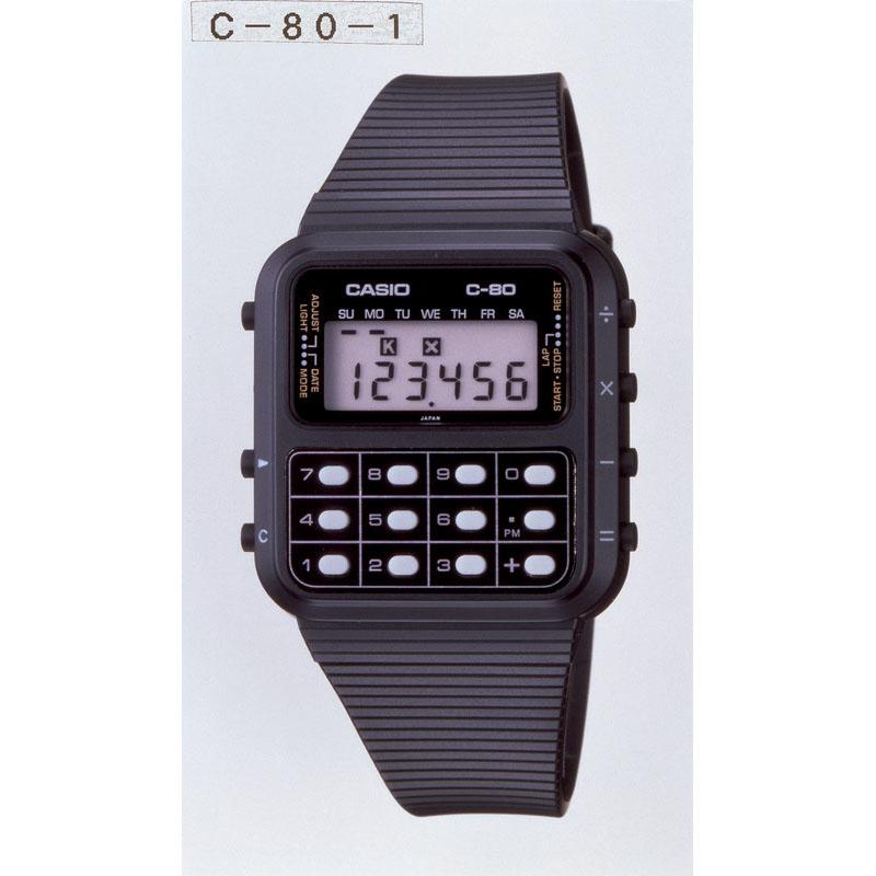 計算機能を搭載した「カルキュレータ クロノ C-80」:1980年(昭和55年)発売