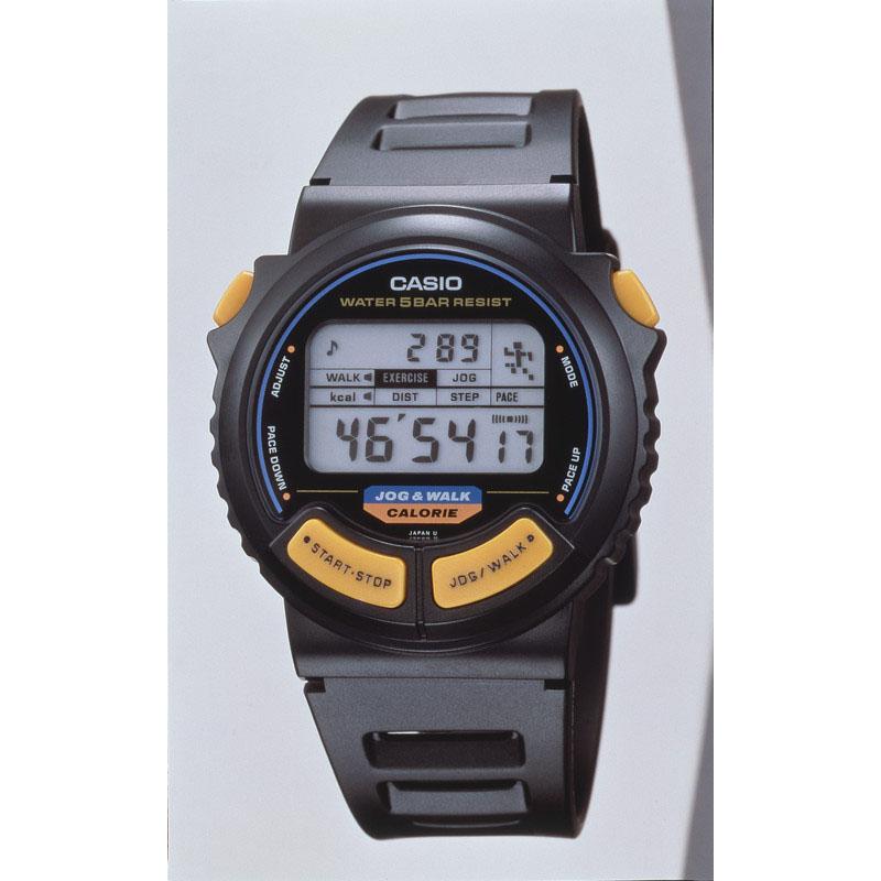 消費カロリー、歩数、距離のいずれかを算出できる腕時計:1991年(平成3年)発売