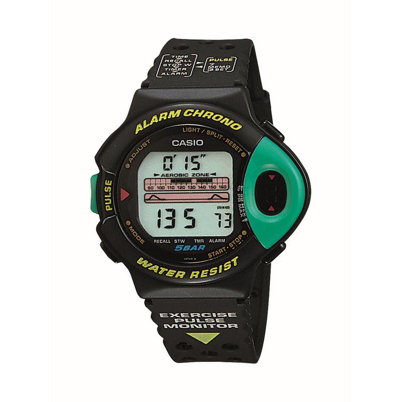 運動強度がわかる脈拍計付き腕時計「JP-200W」:1992年(平成4年)発売
