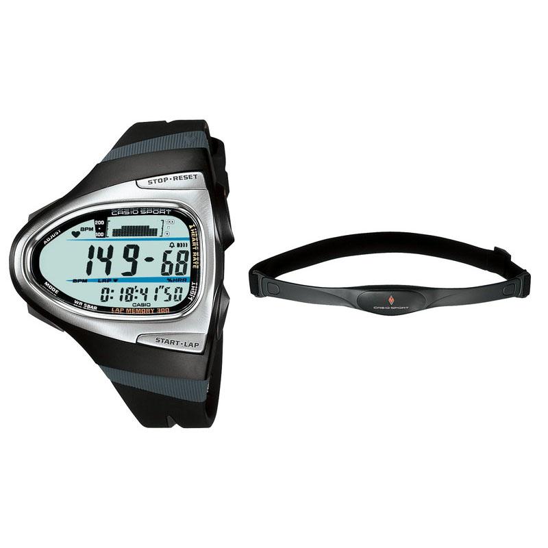 胸ベルトの心拍センサーで計測し、心拍数を時計に無線転送・表示するランナー用ウオッチ「CHR-200J」:2005年(平成17年)発売