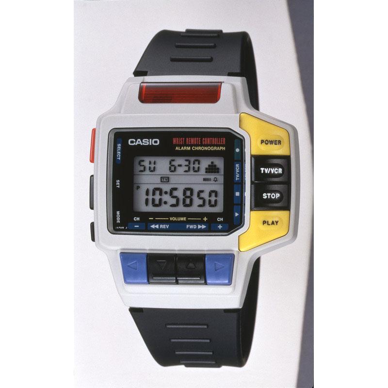 テレビ・ビデオのリモコン機能を搭載した腕時計「腕リモ CMD-10」:1993年(平成5年)発売