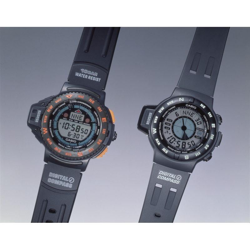 地磁気センサーを用いた電子方位計を搭載「CPW-100/200」:1993年(平成5年)発売
