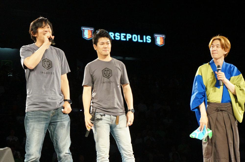 左からナイアンティック・ラボの川島氏と須賀氏、右が立川こしら氏