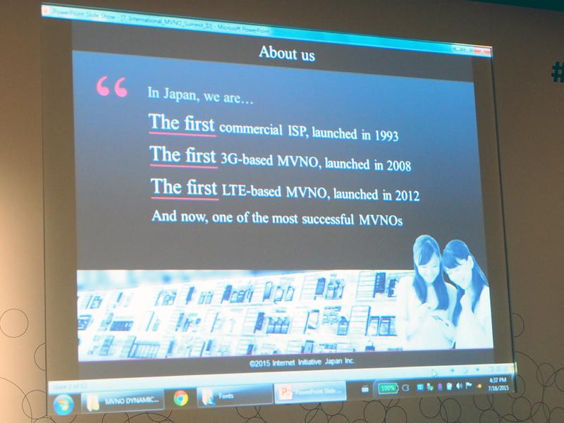 3G、LTEでは、それぞれ日本初のMVNOだと自社を紹介。契約者数や、事業分野ごとの比率も披露した