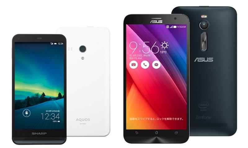 「AQUOS SH-M01」と「ZenFone 2」