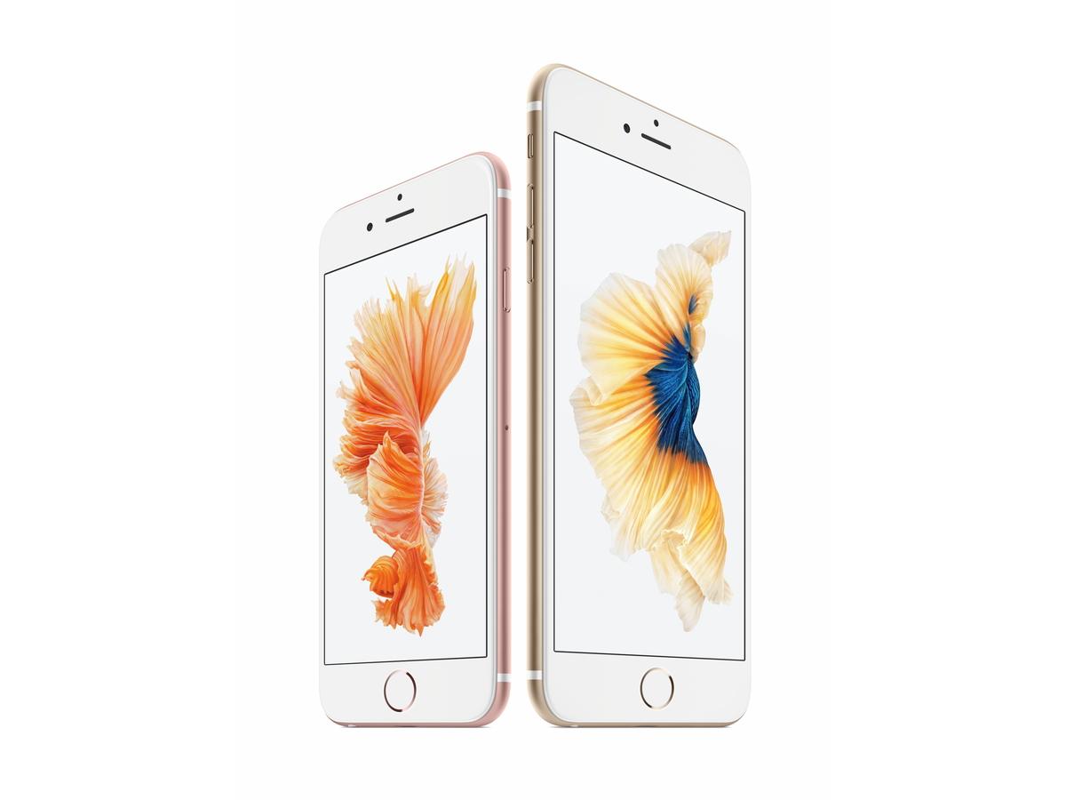 「iPhone 6s」(左)と「iPhone 6s Plus」(右)