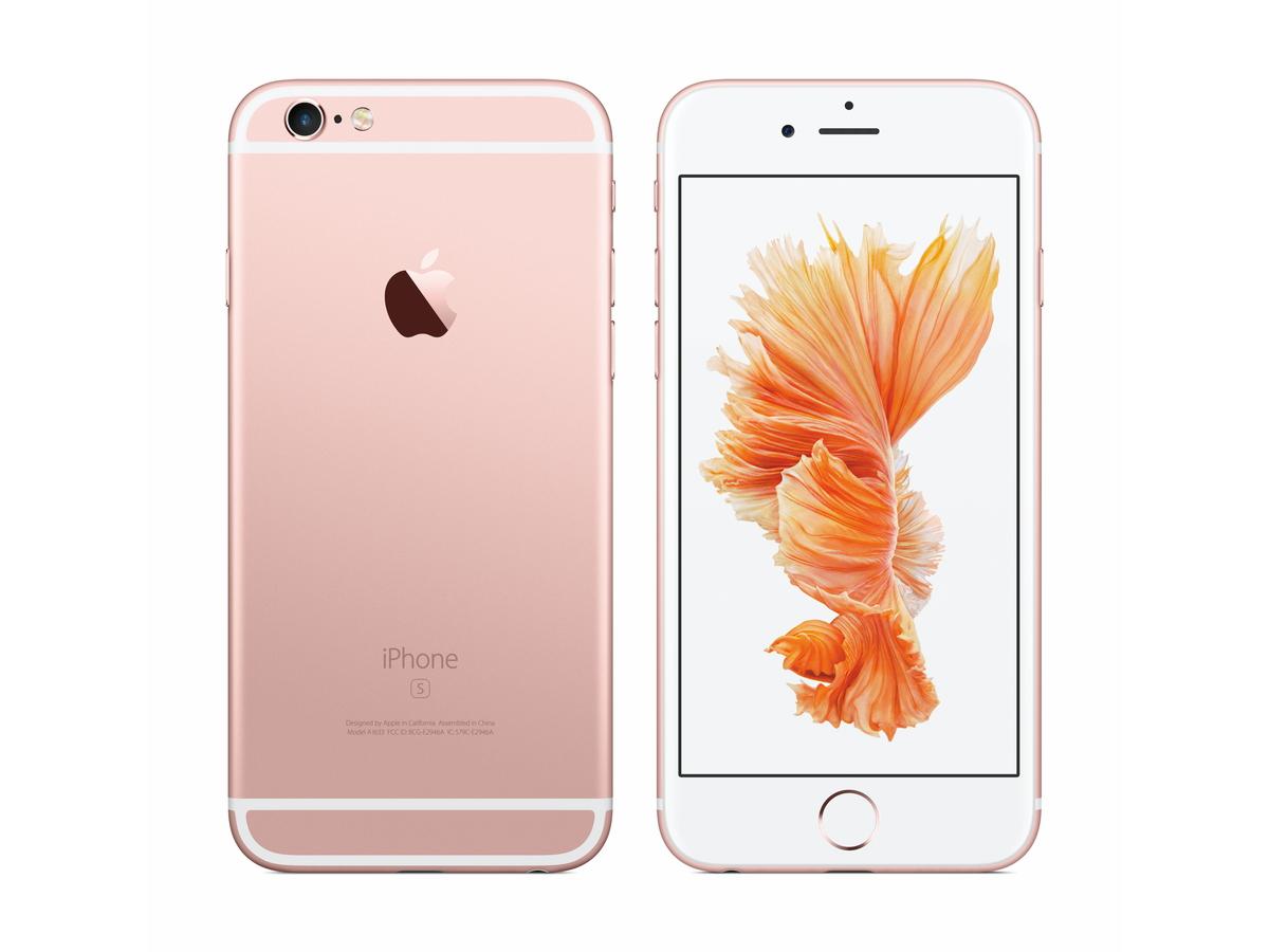 新色のローズゴールド(iPhone 6s)