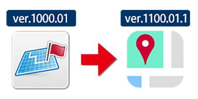 「地図アプリ」アイコン(右が新アイコン)