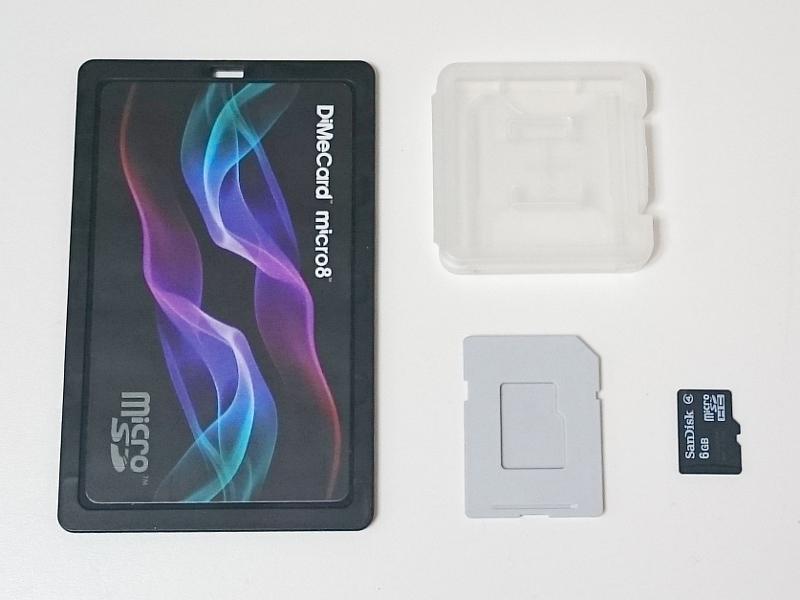 microSDを収納するケースには、購入時についてくるプラケース(右上)や、SDカードケースに入れるためのトレイ(右下)もあるが、複数枚の収納が前提なら本製品のほうが省スペースだ