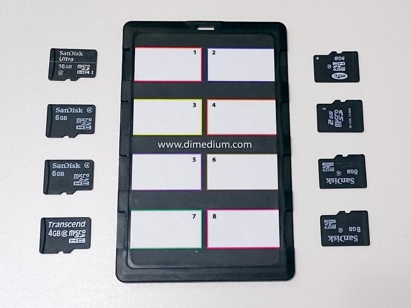 左右両側のスロットに計8枚のmicroSDを収納可能。ちなみにmicroSD4枚とSDカード2枚を収納できる派生製品もある