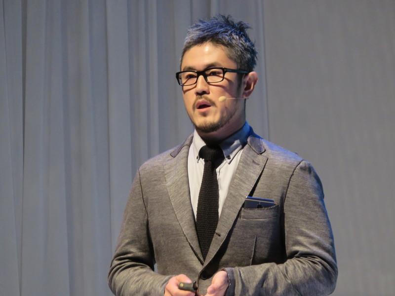 製品説明を行ったのは同社マーケティング部 ブランディングマネージャーの村上勝清氏
