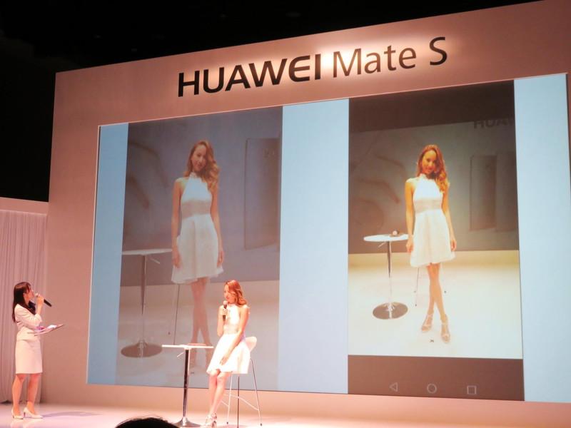 右が「Mate S」で撮影された写真