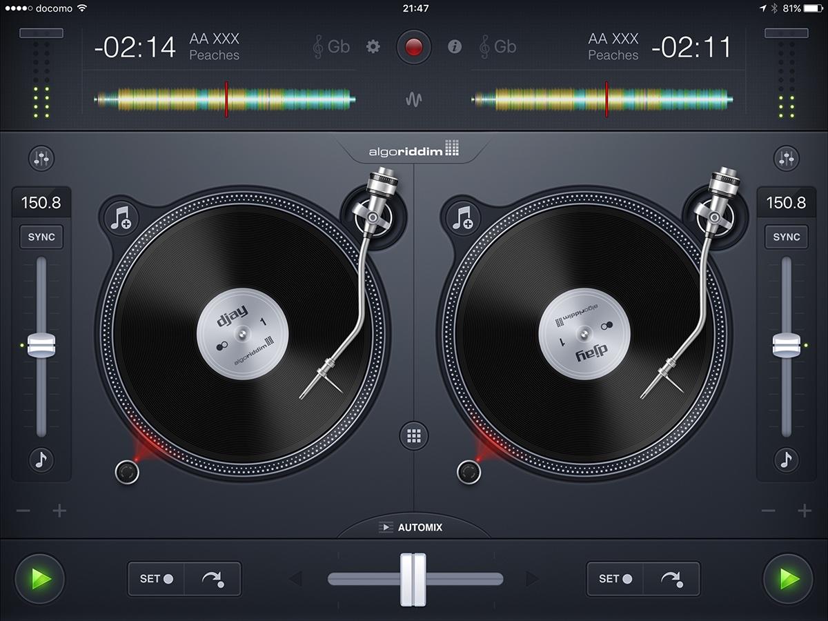 どちらもiPad Proに最適化されていない音楽系アプリで、iPad Proで起動すると「iPad Airなどで起動したときの画面が拡大表示されるだけ」です。でも画面を操作する楽器系アプリの場合、拡大表示になると方がタッチ操作しやすくて好都合だったりもします。