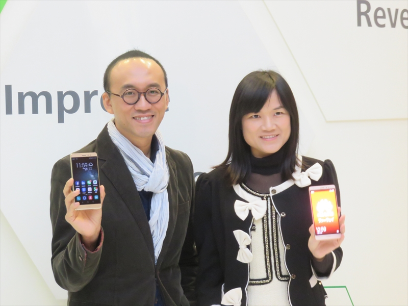 (左から)ファーウェイ・コンシューマー・ビジネス・グループ グローバル・プロダクト・マーケティング ヴァイス・プレジデントのクライメント・ウォン氏とPRディレクターのエイダ・シュウ氏