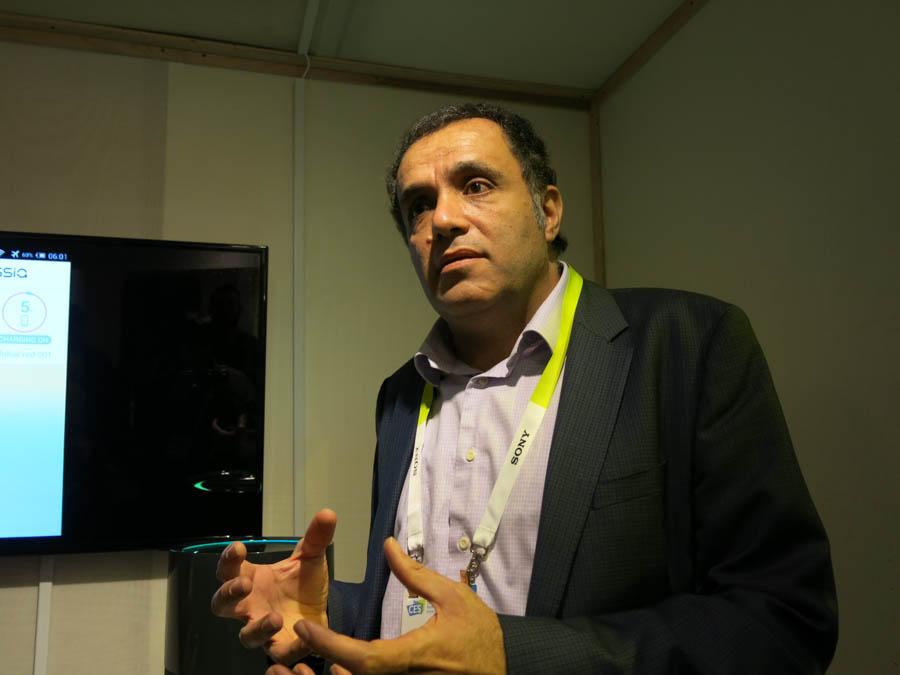 Cotaを紹介するOssiaのHatem Zeine CEO