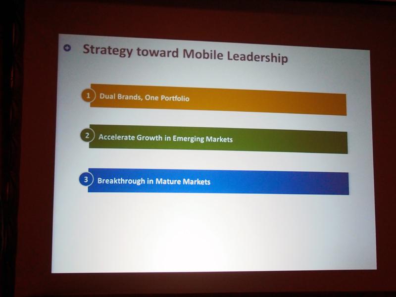 モバイル事業の戦略は、3つに分かれる