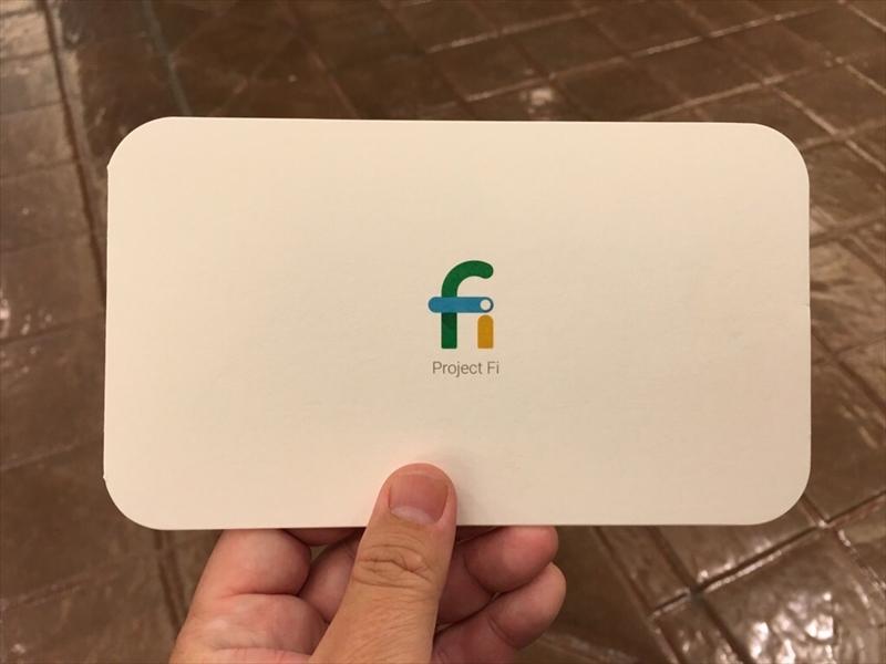 Project Fiのデータ専用SIMカードもゲット