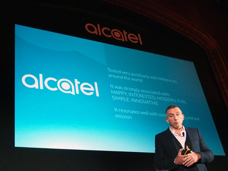 ブランドロゴを「ALCATEL ONETOUCH」から「alcatel」に変更