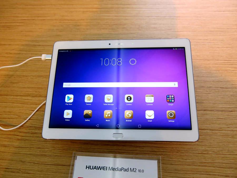 Androidタブレットのフラッグシップ、MediaPad M2 10.0。こちらもスタイラスペン対応
