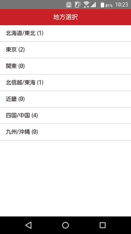 2016年2月現在アプリで利用できるのは7地域8種類のランチパスポートのみ