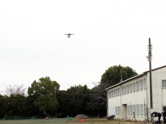 孤立地域に向けて飛び立つ無人航空機