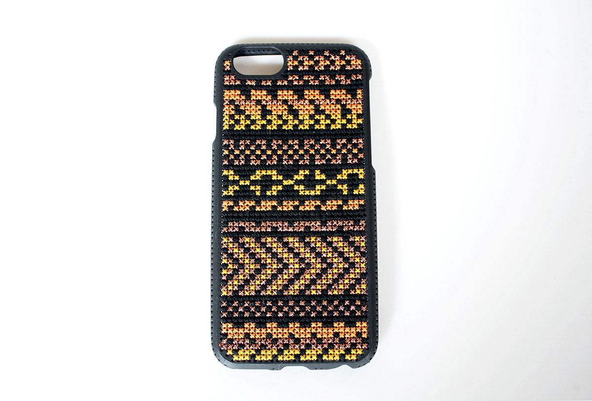 完成した、iPhone6ステッチケース