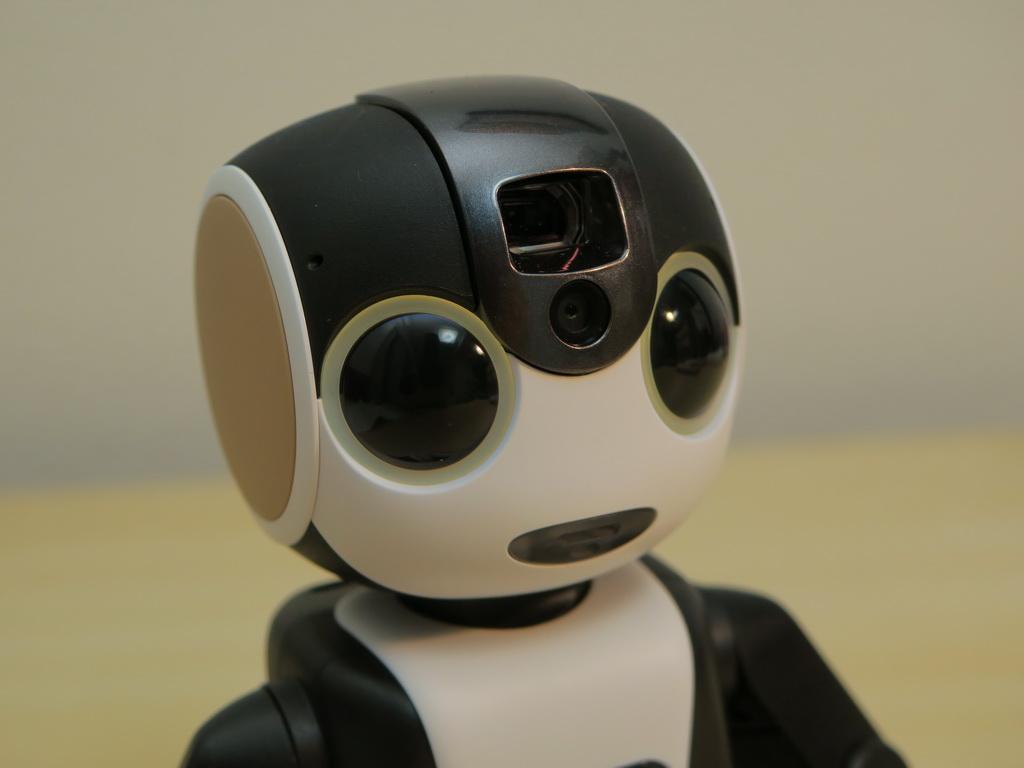 額にはプロジェクター、眉間の部分には800万画素のカメラを備える。目の周りは状況に応じて、緑や青に光る。