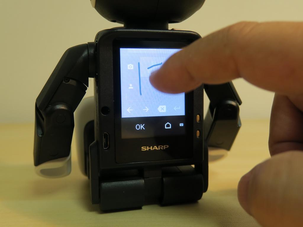 約2.0インチのQVGA液晶ディスプレイだが、手書き入力も問題なく、使える。