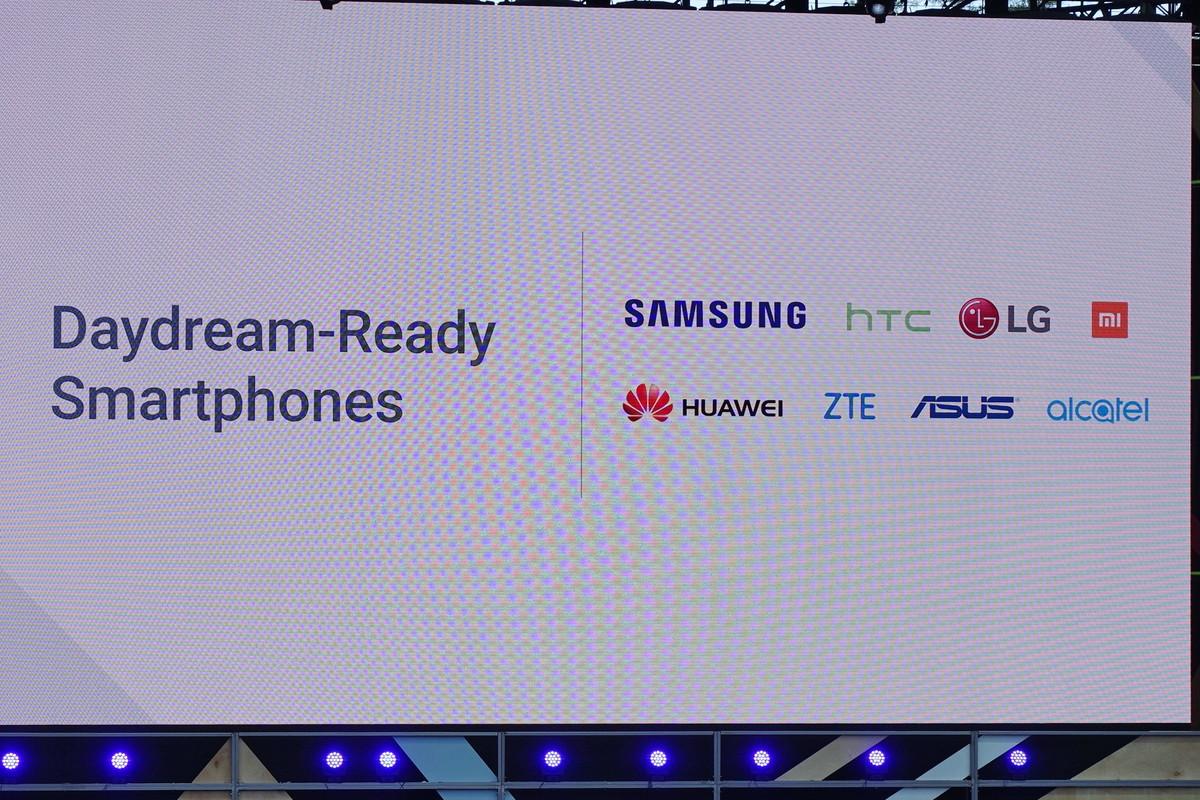 Daydream Ready対応スマホの開発に名乗りをあげているメーカー