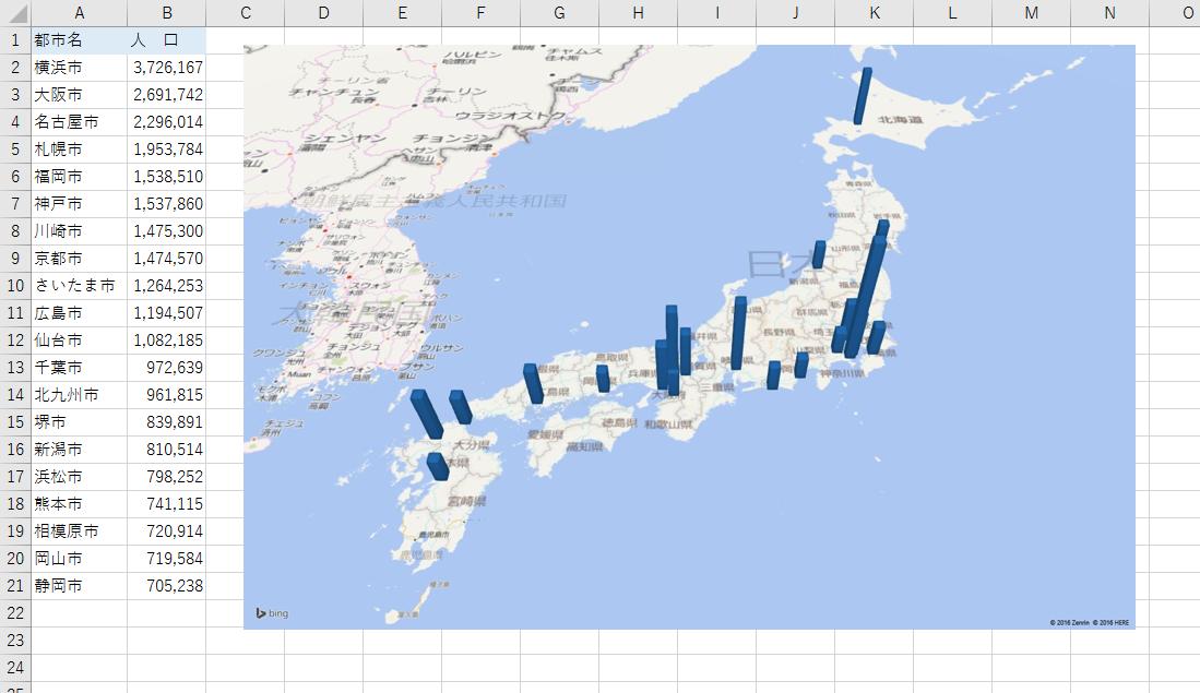「3Dマップ」画面の[キャプチャ画面]をクリックすると、地図がコピーされるので、Excelのシートに貼り付けます