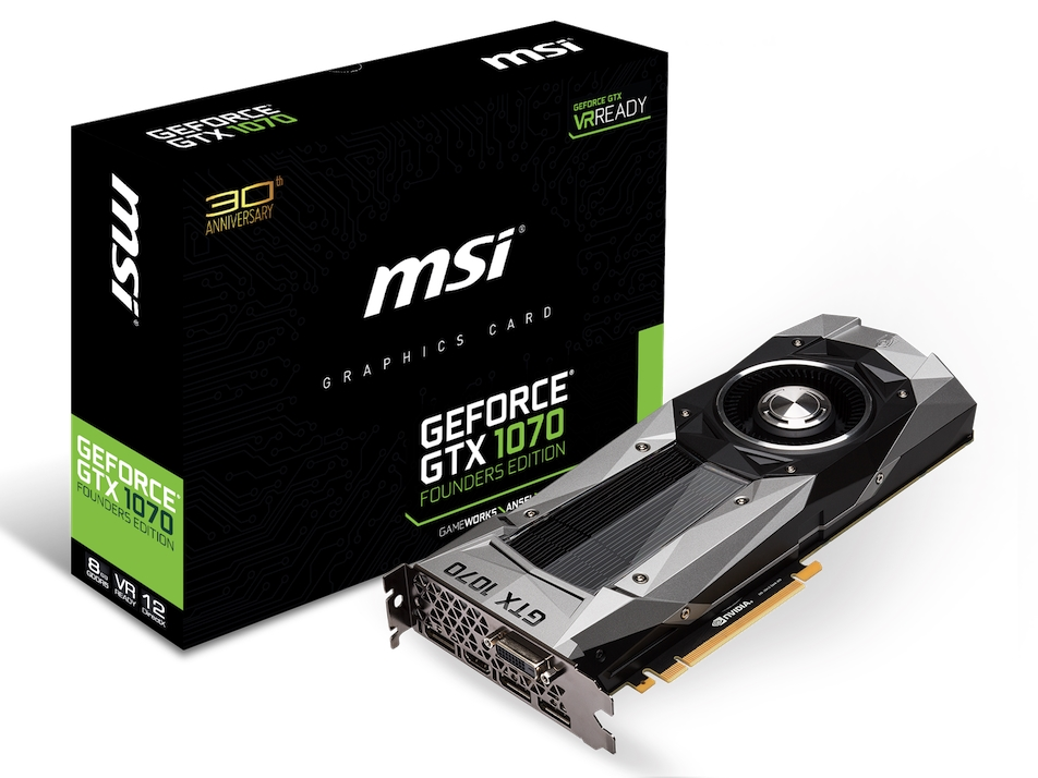 """<strong class=""""em """">GeForce GTX 1070 FOUNDERS EDITION</strong><BR>価格: 70,000円前後(オープン価格、以下同)<BR>Founders Editionのリファレンスカード"""