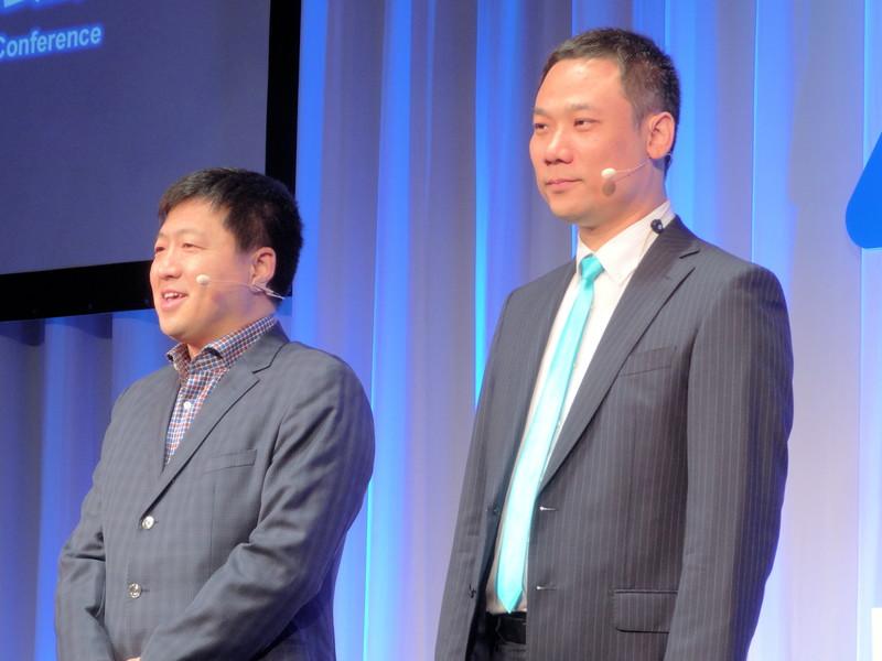 左からZTEジャパン株式会社 代表取締役社長 李明氏、ZTE Corporation CEO of Device EMEA兼APAC ジャッキー・ジャン氏