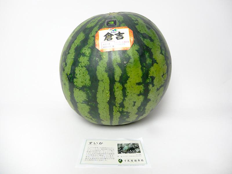 すいか。千疋屋のすいかにはその果物について書かれたカードが付いてくることを初めて知った。すいかってアフリカ原産らしいですよ