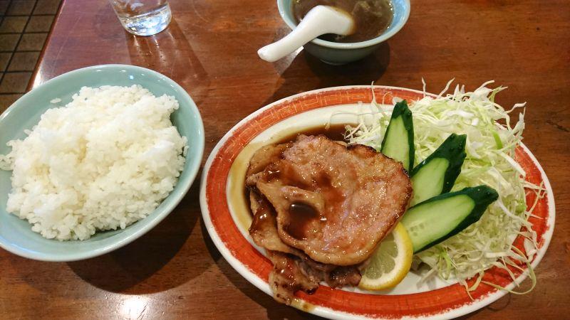 ロース生姜焼き+ライス