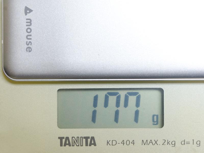 重量は実測で177g