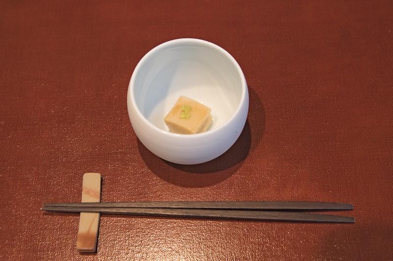 先付: 胡麻豆腐