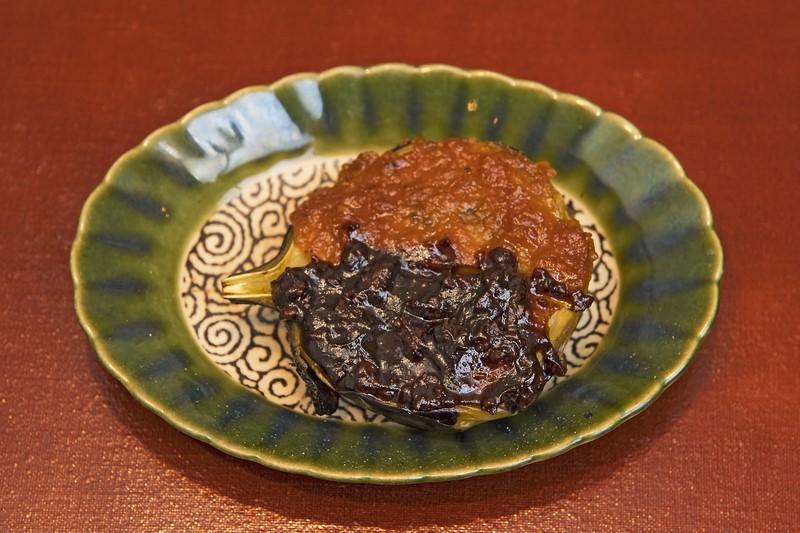 焼物: 賀茂茄子二色田楽