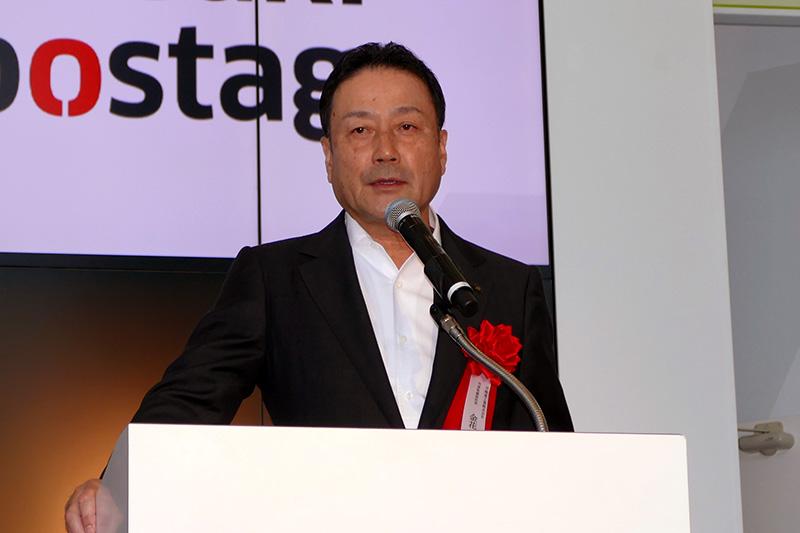 川崎重工業株式会社 代表取締役社長 金花芳則氏による挨拶から始まった