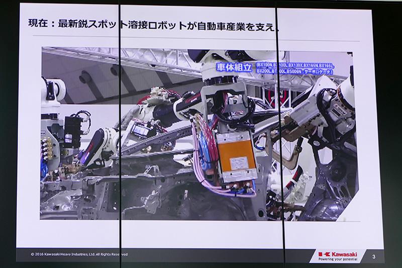 スポット溶接ロボット