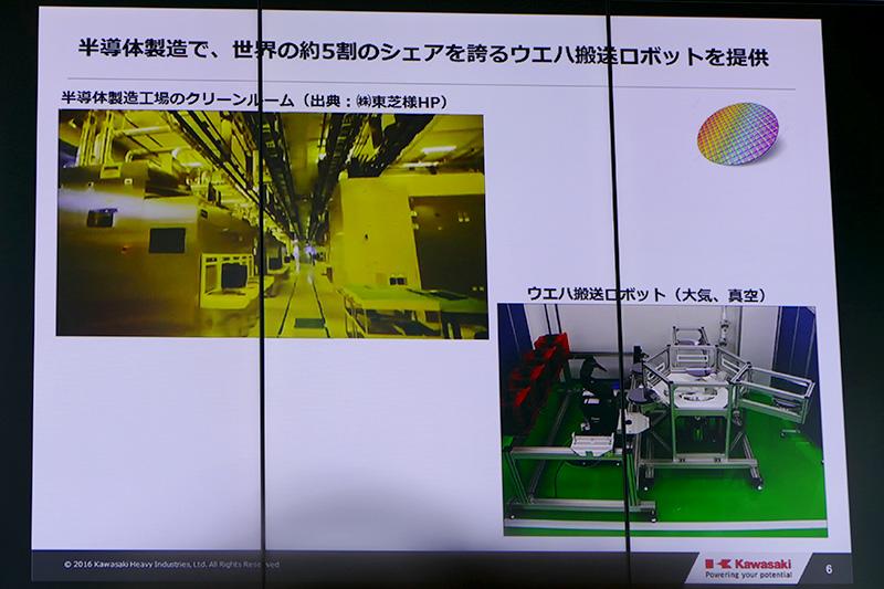 半導体製造で活躍するウェハ搬送ロボット