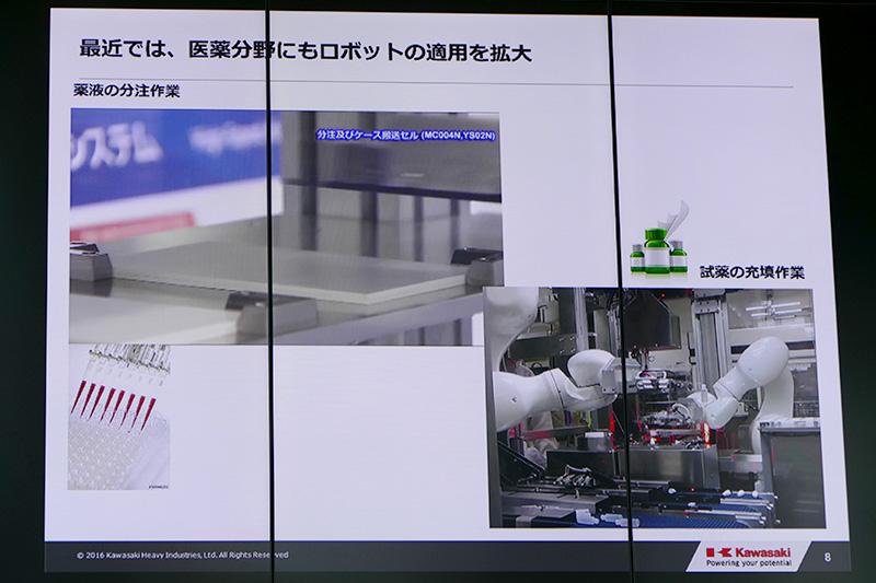 医薬品業界にもロボットは進出