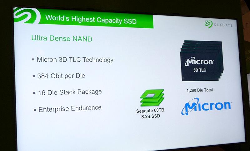 採用した3D NANDフラッシュフラッシュメモリの概要。エンタープライズ用の書き換え寿命とあるのが少し興味深い